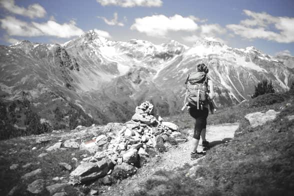 In den Bergen kann Anita die Batterien wider auftanken und neue Inspirationen finden